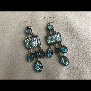 Blue/gold exquisite earrings 😍